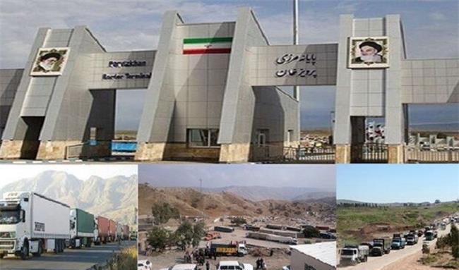 ظرف 2 ماه ۸۰۰ هزار تن کالا از مرزهای کرمانشاه صادر شد