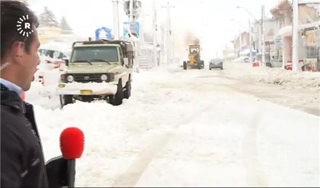 فیلم بارش برف در کردستان عراق
