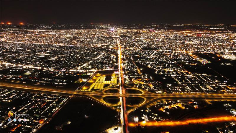 عکس های زیبای اربیل در شب